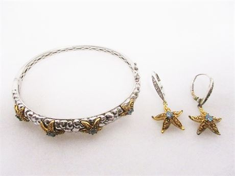LOT OF STERLING SILVER STARFISH JEWELRY