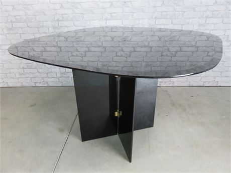 Contemporary Black Glass Table