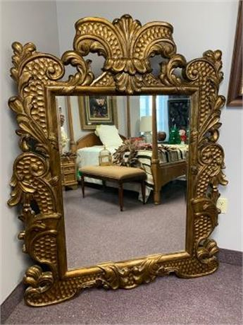 Large Gold Décor Mirror