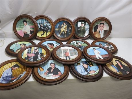 ELVIS PRESLEY Limited Edition 16-piece Collector Plate Set