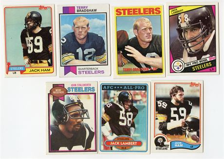 PITTSBURGH STEELERS HOF LOT 1972 TERRY BRADSHAW & LAMBERT HAM STALLWORTH