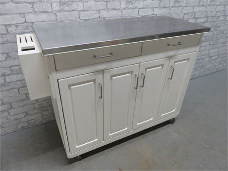 Stainless Steel Top Mobile Kitchen Island