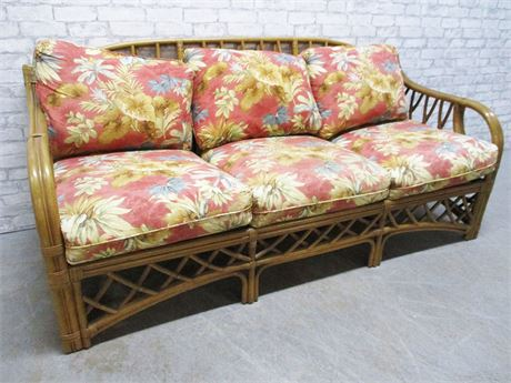 RATTAN SOFA BY TRADEWINDS