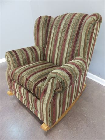SMITH BROTHERS Wingback Arm Chair Rocker