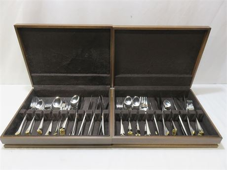 TOWLE 90-Piece Stainless Flatware Set