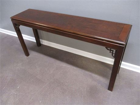 ASIAN-INSPIRED CONSOLE TABLE