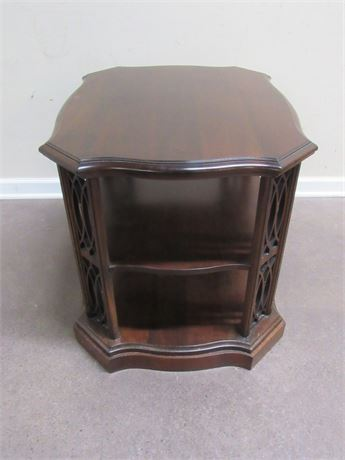 END/SIDE TABLE WITH NICE FRETWORK DETAILS