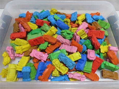 Vintage 1970s Miniature Rubber Car Eraser Lot
