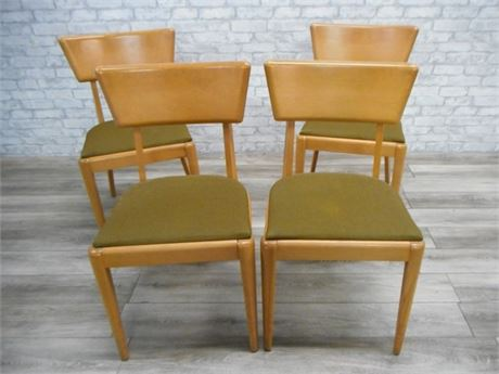 4 HEYWOOD WAKEFIELD MID CENTURY DINING CHAIRS