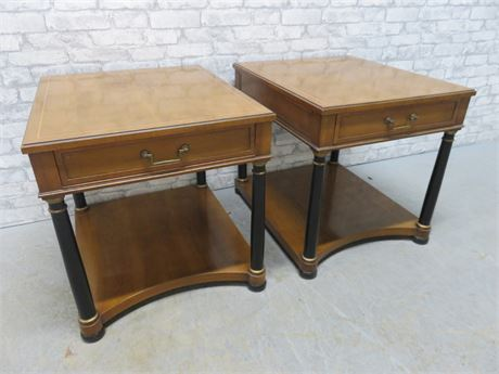 Vintage HERITAGE Old French Fruitwood End Tables