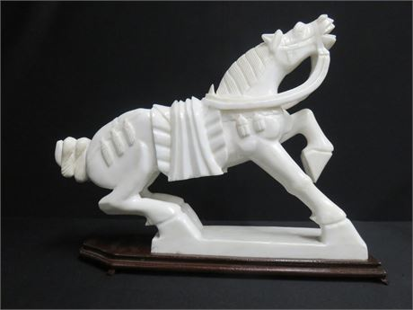 Carved Stone Horse Statue