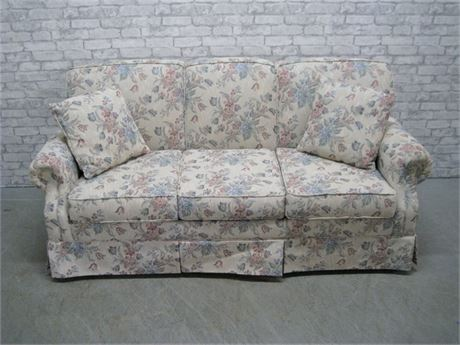 FLEXSTEEL COZY COMFORT FLORAL SLEEP SOFA
