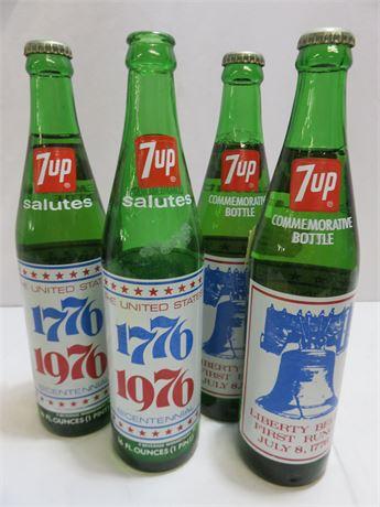 Vintage 7UP Bicentennial Bottles