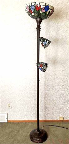 Stained Plastic Floor Lamp