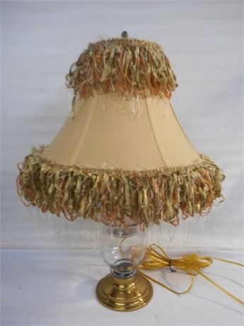 "UNIQUE ""GLASS JAR"" LAMP AND SHADE"