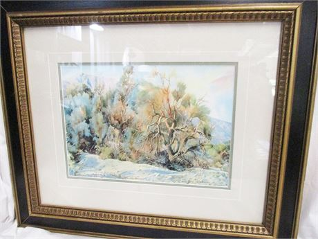 """""""SMOKE TREES"""" BY RALEIGH KINNEY #18/200 - SIGNED"""