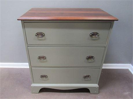 Vintage Refinished/Painted 3 Drawer Dresser