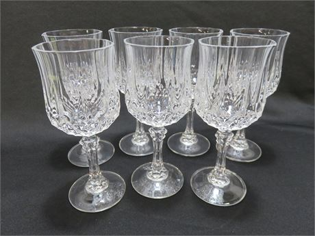 7-Piece Crystal Wine Goblet Set