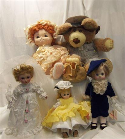 Furskins Bear & Madame Alexander Dolls