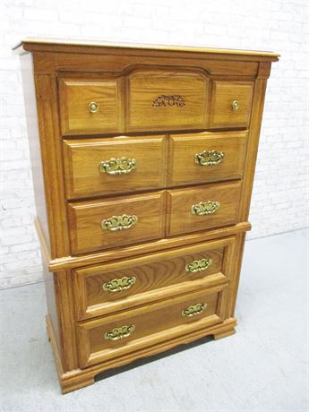 BROYHILL 5-DRAWER TALL DRESSER