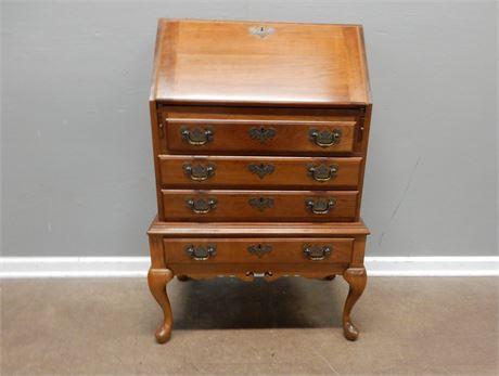 Vintage Maddox Cherry Wood Secretary Desk