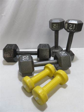 6-Piece Dumbell Lot