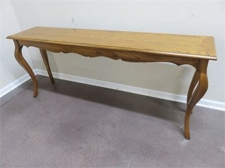 French Provincial Oak Sofa Table