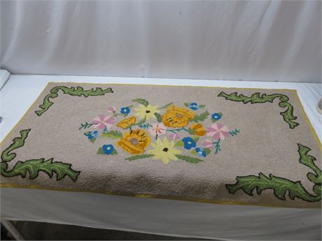 Hand Woven Floral Tapestry