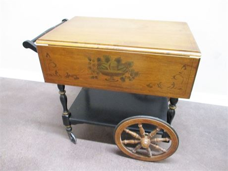 VINTAGE HEYWOOD-WAKEFIELD TEA CART