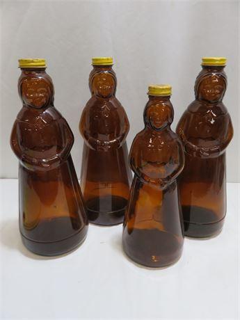Vintage Mrs. Butterworth's Glass Syrup Bottle Lot