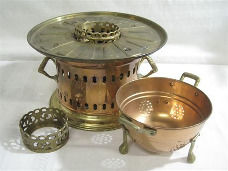 2 PIECE COPPER AND BRASS LOT