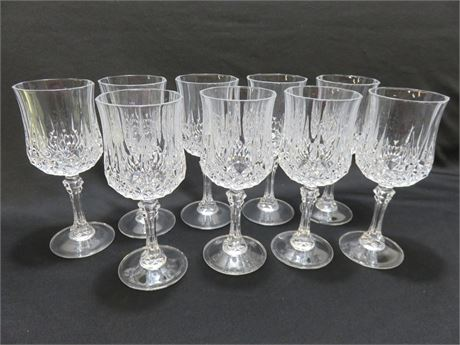 9-Piece Crystal Water Goblet Set