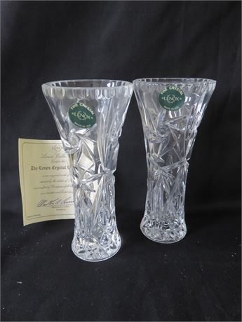 Transitional Design Online Auctions Lenox Crystal Star Vases