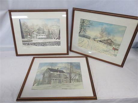 THOMAS E. KENNEDY Historic Building Watercolor Prints