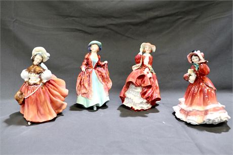 Vintage Lot of 4 Ladies of Royal Doulton, English Bone China