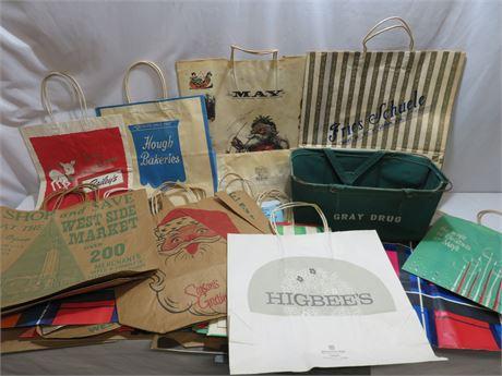 Vintage Paper Shopping Bag Lot