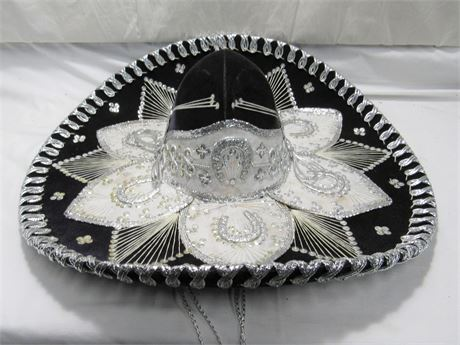 Belri Hats - Hand-made Decorative Mexican Mariachi Sombrero Hat - Black