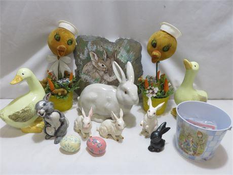 Vintage Easter Decoratives Lot