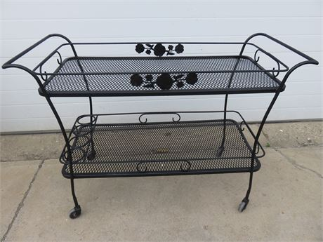 Wrought Iron Patio Serving Cart