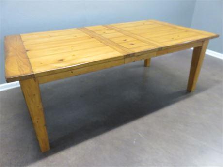 Knotty Pine Farmhouse Table