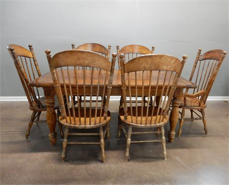 Traditional Wood Dining Set