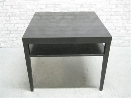 LARGE BLACK LAMINATE SIDE TABLE