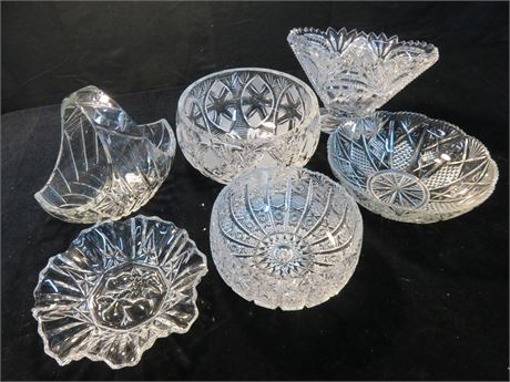 6-Piece Glass & Crystal Lot