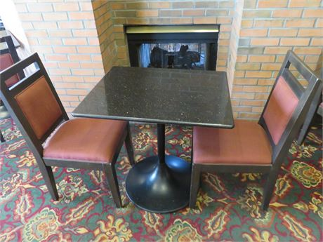 Faux Granite Top Table For Two