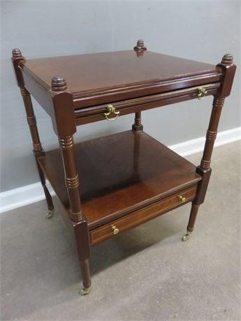 Asian Style Cherry End Table