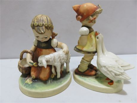 GOEBEL M.I. HUMMEL Favorite Pet & Goose Girl Figurines