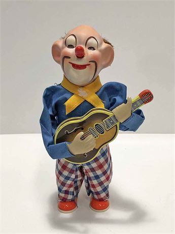 Vintage Wind Up Guitar Playing Clown