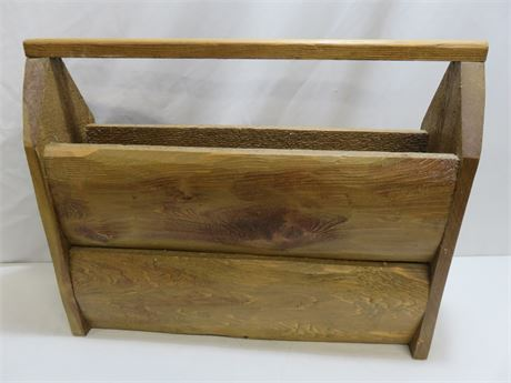 Vintage Style Carpenter's Wooden Tool Box