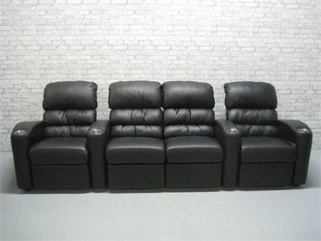 RECLINING THEATER SEATING - 3 PIECES - SEATING FOR 4