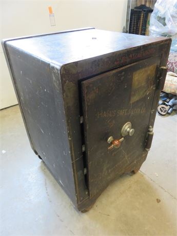 Antique HALL'S SAFE & LOCK CO. Floor Safe